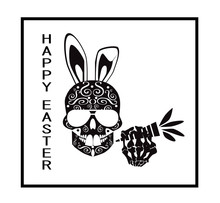 Easter Skull Icon Background W...