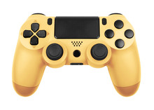 Gamepad From The Game Console Isolated On A White With Clipping Path