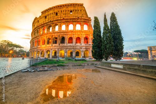 Photo sur Toile Europe Centrale Rome, Coliseum. Italy.