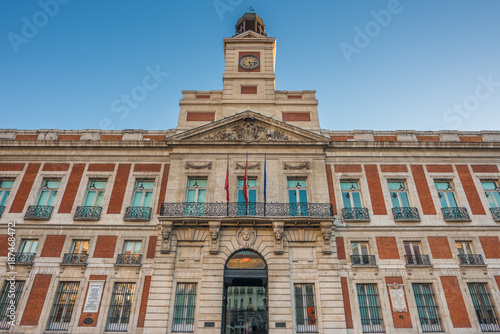The Old Post Office Building, Puerta del Sol, Madrid, Spain Tablou Canvas