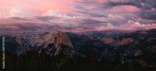 Alpenglow from Sentinel Dome, Yosemite Wallpaper Mural