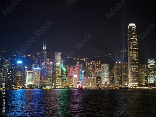 Stickers pour porte Pierre, Sable Hong Kong skyline.