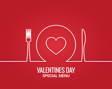 Valentines Day Menu. Fork And ...