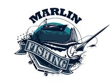 Black Marlin Fishing Diagonal