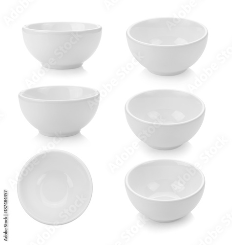 white bowl on white background Fototapete