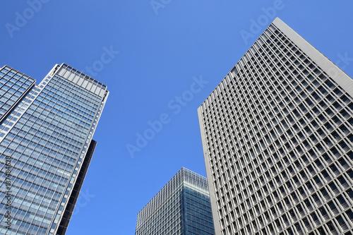 In de dag Milan City view with sky