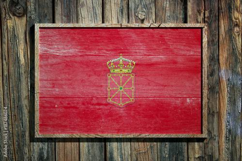 Wooden Navarra flag