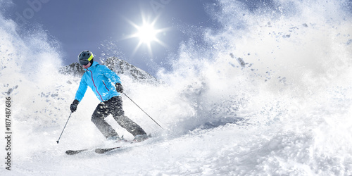 Garden Poster Winter sports winter skie and snow