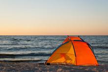 Bright Orange Yellow Tent Empt...