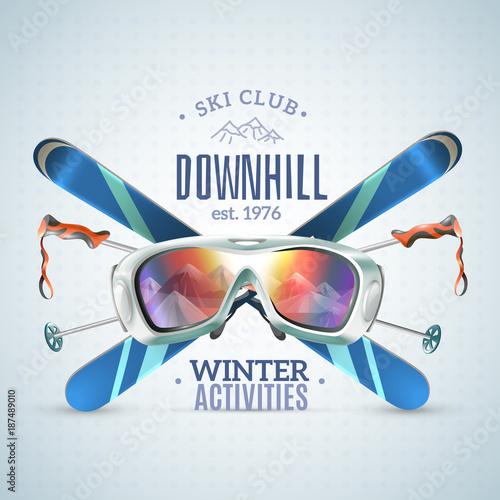 Fotografie, Obraz  Ski Club Poster