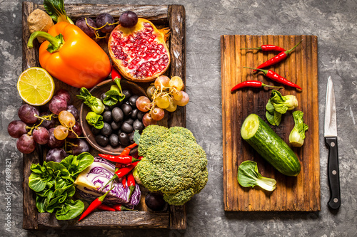 vegetables and fruits, herbs - the ingredients for cooking, healthy lifestyle © Наталья Майорова