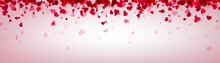 Love Valentine's Banner With Pink Hearts.