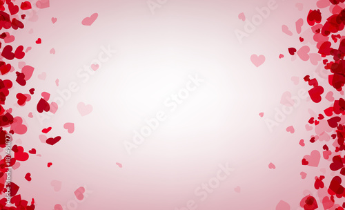 Love valentine's background with pink hearts. © Vjom