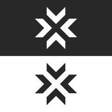 Converge Arrows Logo Mockup, L...
