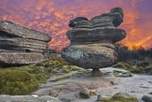 The Idol - Brimham Rocks At Sunset