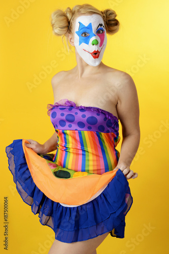 Clown Zu Karneval Fastnacht Oder Fasching Buy This Stock Photo
