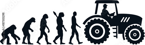 Farmer evolution tractor Wallpaper Mural