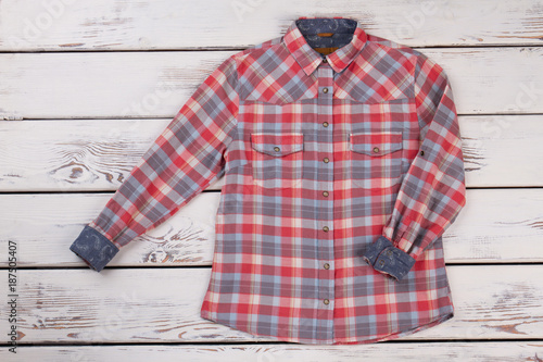 9d0a5677256 Stylish flannel plaid shirt - Buy this stock photo and explore ...