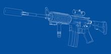Machine Gun. Vector Rendering ...