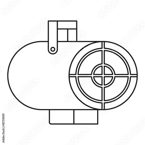 Heat Gun Icon Outline Style