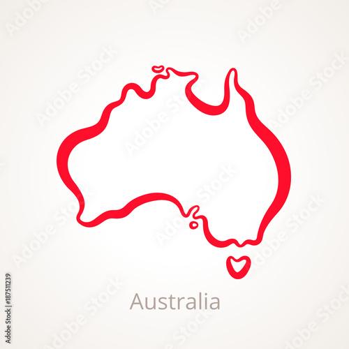 Australia - mapa przeglądowa