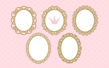 Set Of Laser Cut Vector Oval F...