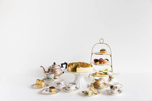 Tea Service On White