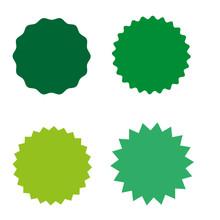 Set Of Starburst, Sunburst Badges, Labels, Stickers. Simple Flat Style.