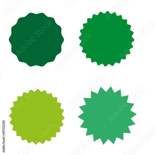 Fotografie, Obraz  Set of starburst, sunburst badges, labels, stickers