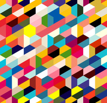 Abstract Pattern Of Trapezoids...