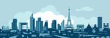 Fototapeta Fototapety Paryż - Paris skyline