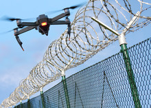 Drone Monitoring Barbed Wire F...