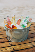 Beverage Cooler Full Of Drinks...