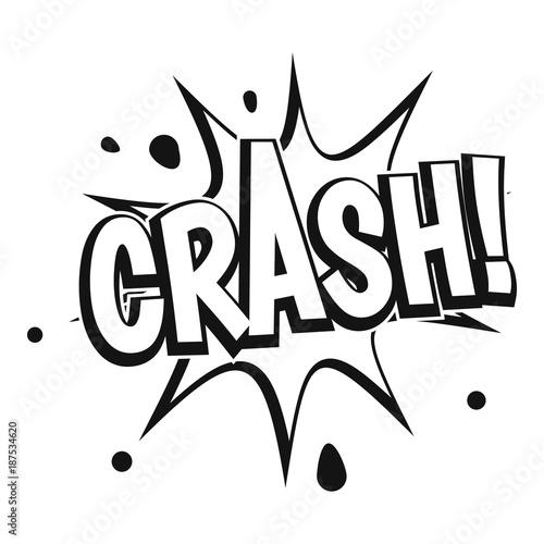 Photo Crash explosion icon, simple style