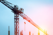 Building Crane Against The Bac...