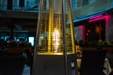 The Flame From A Patio Heater ...
