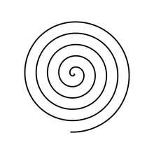 Thin Black Spiral Symbol. Simp...