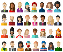 People Avatar Flat Vector Set ...