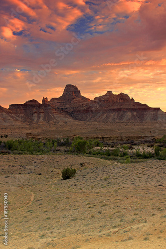 Foto op Canvas Zalm Utah desert landscape with sunset sky, USA.