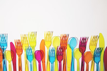 Plastic Knifes, Forks And Spoons