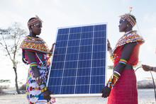 Samburu Women With Solar Panel...