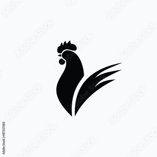 Fotografie, Obraz Rooster Logo Vector Template Design