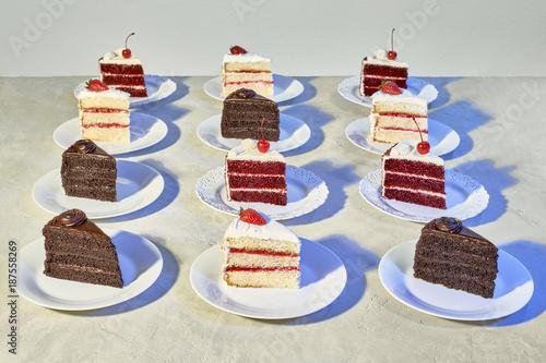 Mid Century Pop Art Diner Cakes