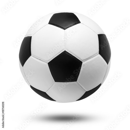 Deurstickers Bol soccer ball on isolated
