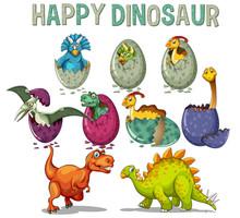 Happy Dinosaur With Dinosaurs ...