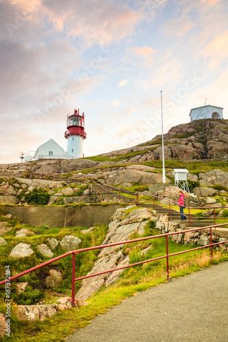 Foto auf AluDibond Lindesnes Lighthouse in Norway