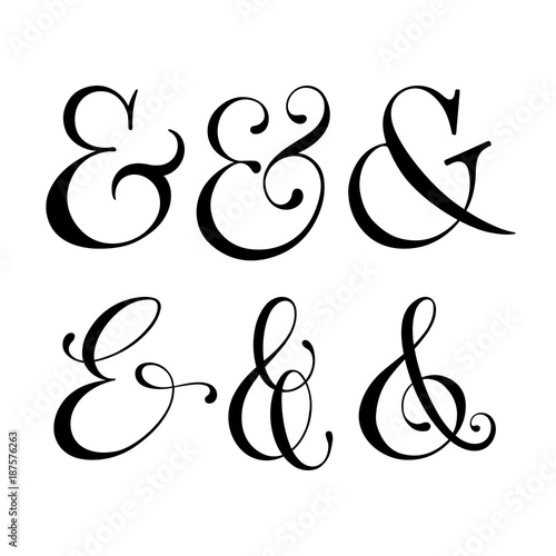 Photo collection of ampersands