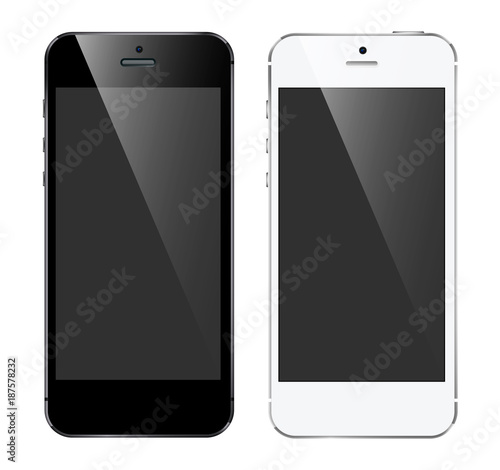 Pinturas sobre lienzo  black and white smartphones with a dark screen on a light background