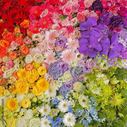 一面の花々