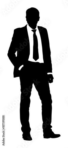 Confident leader standing  Businessman go to work vector